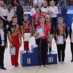 Победители по спортивной акробатике Половинская Анна и Лаврентьев Даниил